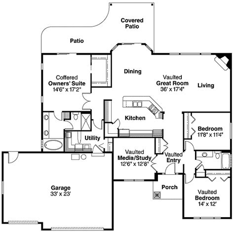 single level home plans spacious single level home 72551da 1st floor master suite cad available craftsman den