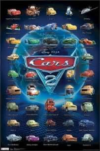 Lightning Mcqueen 2 Car Names Cars 2 Poster 40 Characters 22x34 Disney Pixar