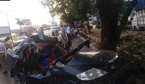 mumbai car crash 5 killed in in mumbai