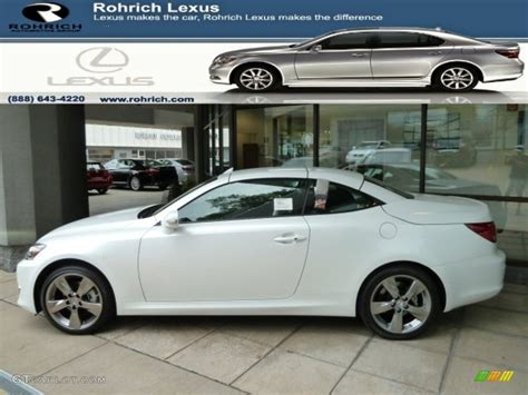 white lexus 2011 2011 starfire white pearl lexus is 250c convertible