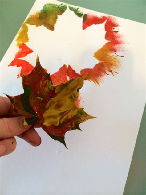 autumn leaves crafts for craft ideas for autumn leaf painting trace