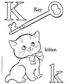 color starting with k alphabet coloring sheets k is for kitten