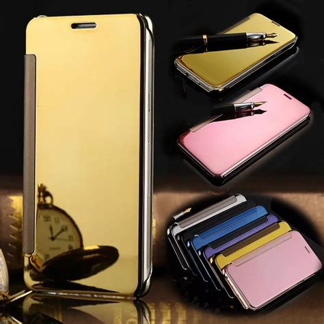 Flip Mirror Wallet Samsung S5 by For Samsung Galaxy S5 I9600 Smart Sleep View Mirror Flip