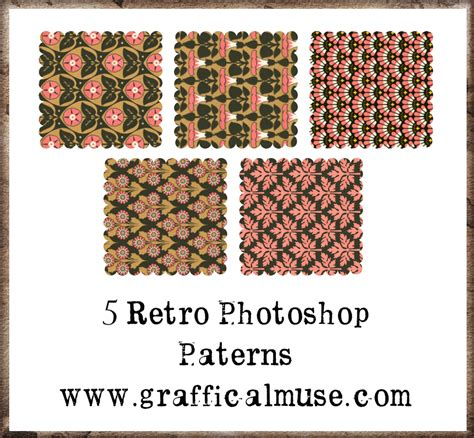 photoshop pattern list free photoshop patterns pink retro the graffical muse