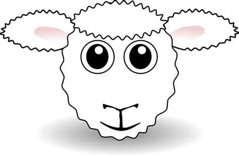 sheep face clip art  clkercom vector clip art  royalty  public domain