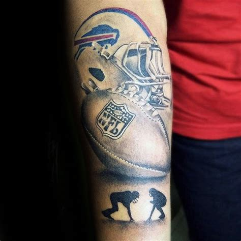 70 Football Tattoos For Men - NFL Ink Design Ideas American Football Tattoos Designs