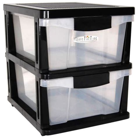 Plastic Shelves With Drawers drawers 2 plastic slide shelves crazysales au