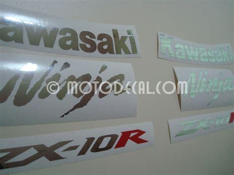 Kawasaki Zx10r 2005 Aufkleber by Kawasaki Zx 10r 2005 Black Decal Kit By Motodecal