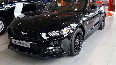 mustang black on black all new ford mustang convertible black panther walkaround
