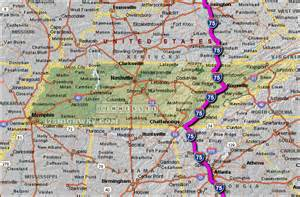 i 75 tennessee map