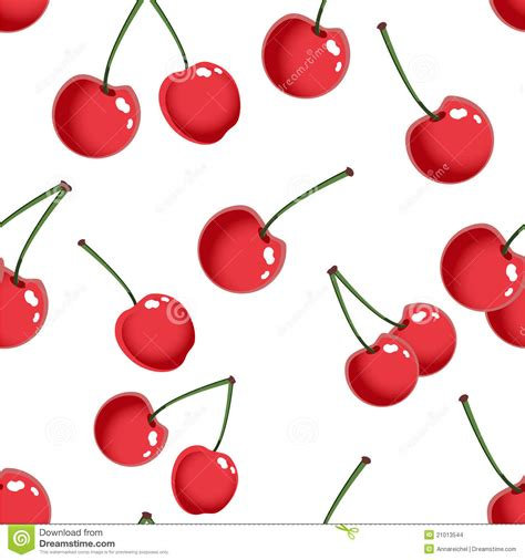 cherry pattern vector art seamless pattern with cherry stock vector image 21013544