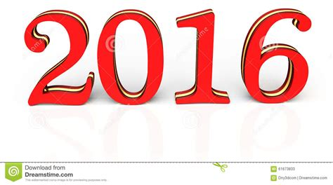 new year 2016 white background 3d happy new year 2016 text stock illustration