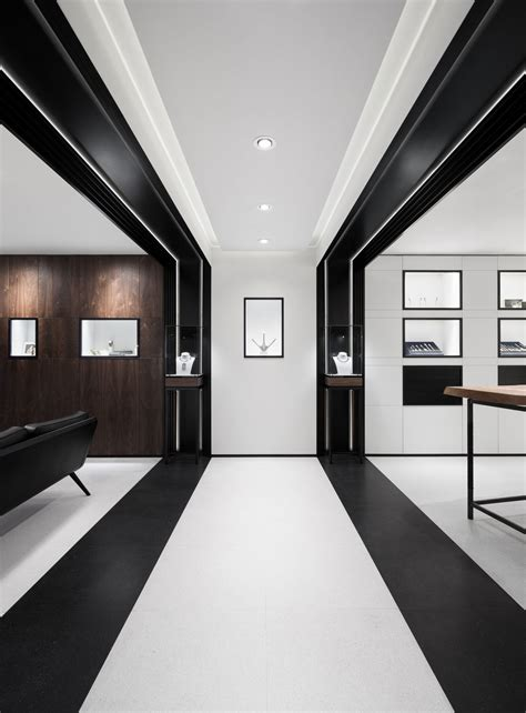 interior space david thulstrup designs symmetrical space for georg jensen