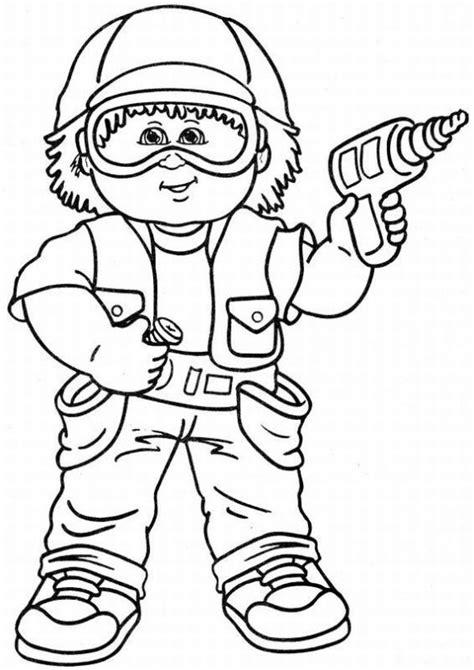 cabbage patch kids coloring pages learn to coloring