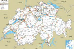 road map of switzerland ezilon maps