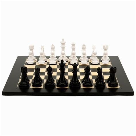 white chess set black and white weighted chess set by dal rossi italy