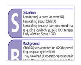 Sbar Template Nursing by Sbar Template Wordscrawl