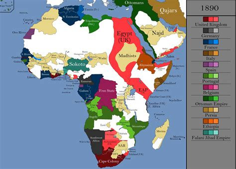 africa map history the history of africa every year