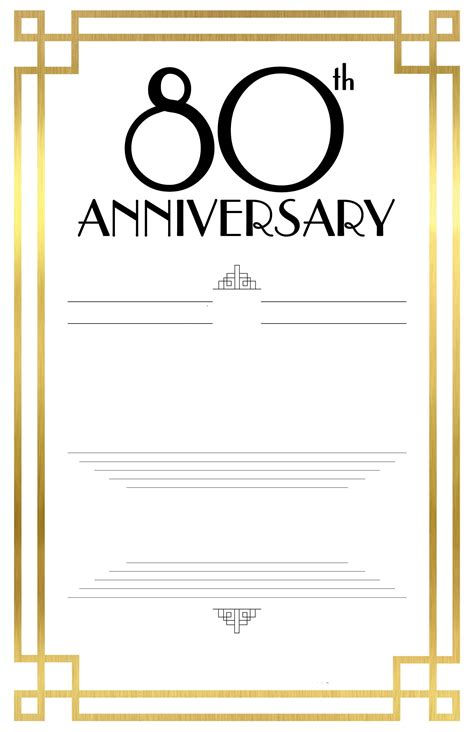 free 80th birthday card template free printable 80th birthday invitations bagvania free