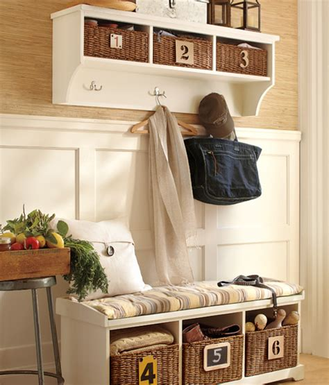 Foyer Storage Ideas by Storage Solutions For Your Entryway Pottery Barn