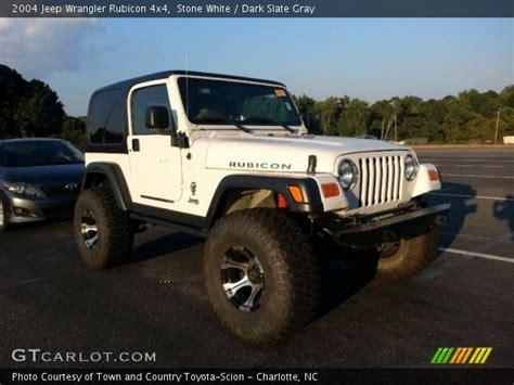 jeep rubicon white interior white 2004 jeep wrangler rubicon 4x4 slate