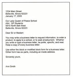 Model Business Letter Photos