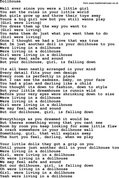 houses song bruce springsteen song dollhouse lyrics