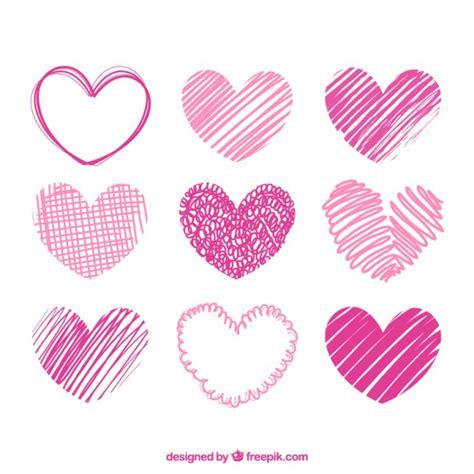 imagenes de corazones dibujados a mano pack de corazones rosas dibujados a mano descargar