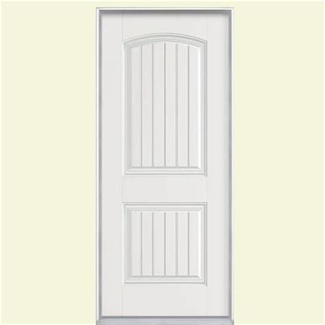 Masonite Cheyenne Interior Doors Masonite 32 In X 80 In Cheyenne 2 Panel Primed Smooth Fiberglass Prehung Front Door With