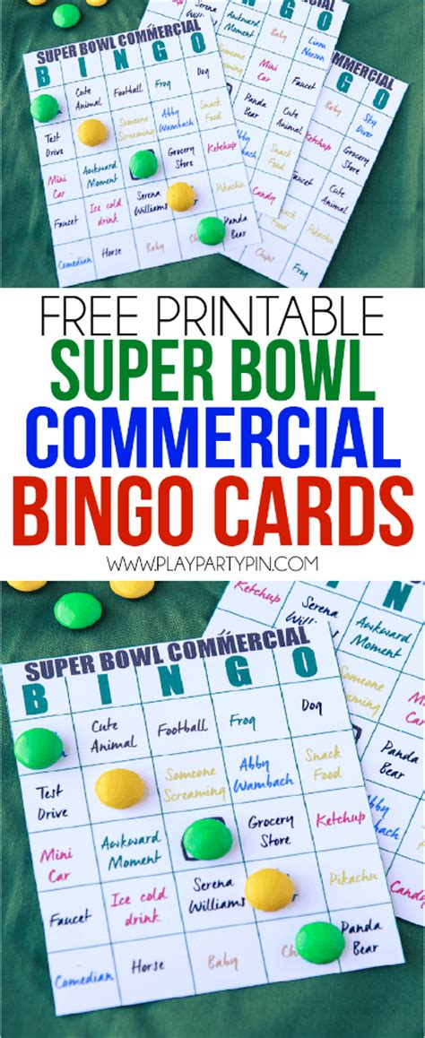 Super Gift Card - 2016 super bowl commercial bingo and party ideas play party plan