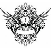 骷髅头纹身矢量素材下载 流行元素 底纹边框 矢量