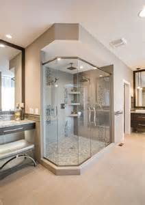 Modern bathroom with frameless shower doors lasco shower stall lowes