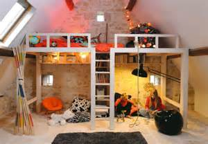 Room awesome attic loft kids bedroom by melina ani