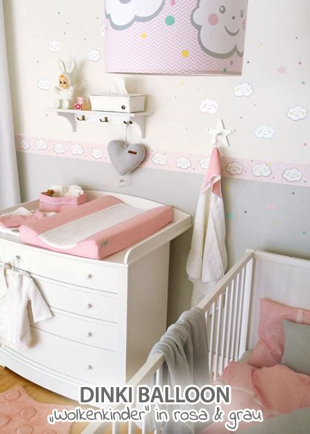 Kinderzimmer Grau Rosa Gestalten by Dinki Balloon Babyzimmer Wolkenkinder Rosa Grau Bei