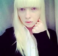 Russian Nastya Zhidkova Albino Model