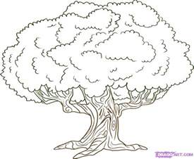 Oak Tree Drawing How To Draw An Oak Tree Step By Step Trees Pop Culture