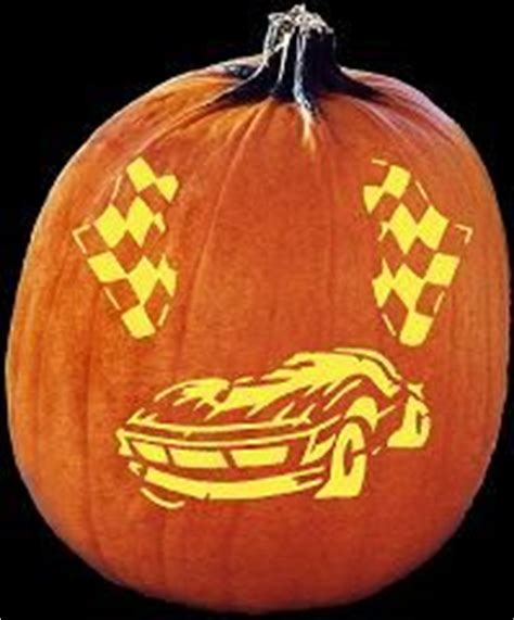spookmaster race car pumpkin carving pattern punkins