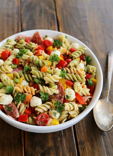 salad with pasta ingredients for pasta salad