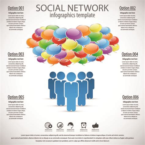 business template social network vector design vector free