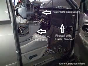 how to replace the heater core on a chevy trailblazer
