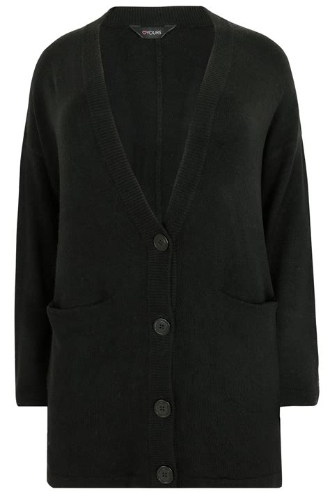 Sweater Murah Ricky Pocket Black Limited black button up cardigan with two pockets plus size 16 to 36