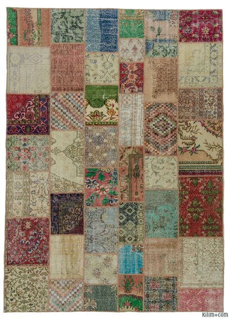 Patchwork Rug - k0018171 multicolor turkish patchwork rug kilim rugs