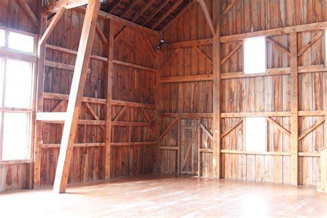 inside barn barn inside into the outside