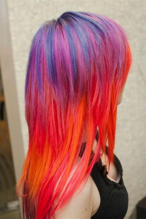 Dynasty Panci 7 Set Orange Color sunset and blue hair blue orange pink purple