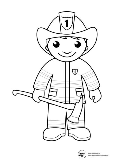 Preschool Community Helpers Coloring Pages - Coloring Home