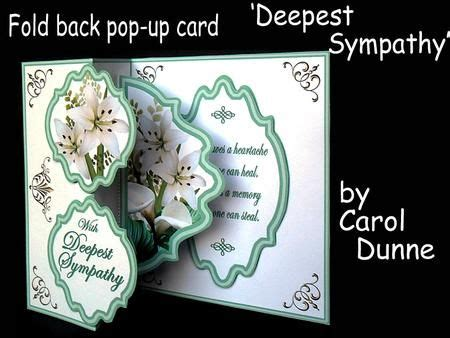 deepest sympathy card template fold back pop up deepest sympathy on craftsuprint designed