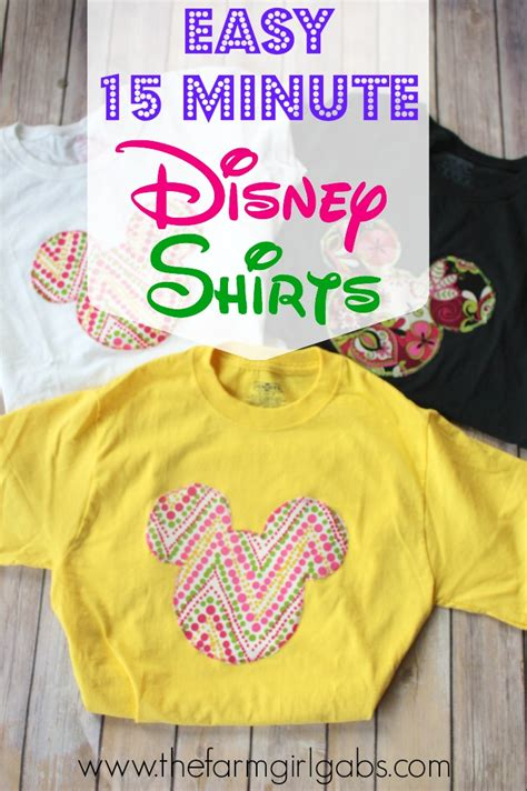 Create Your Own Disney Shirt Www Thefarmgirlgabs Com Diy Disney Shirt Template