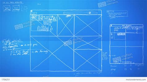 layout process in animation graphic design layout process time lapse blueprint stock