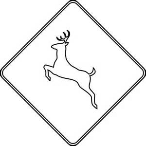 Road Sign Outlines by Deer Crossing Outline Clipart Etc