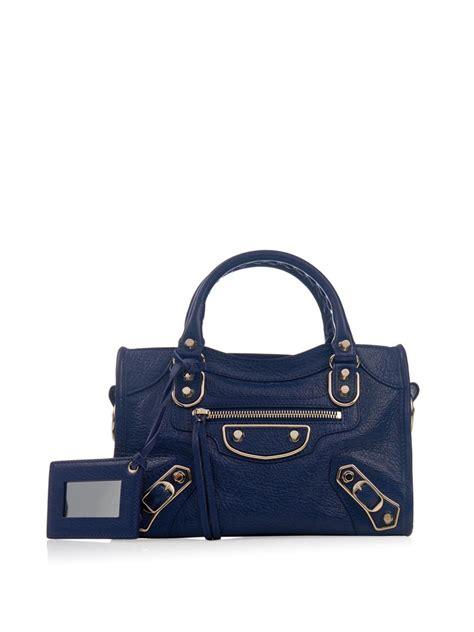 Jual Tas Balenciaga Mini City Metalic Edge Light Blue Ghw lyst balenciaga classic mini city edge line cross bag in blue